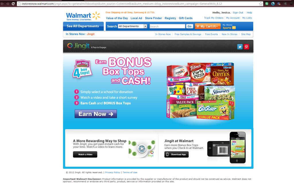 Jingit Walmart signup