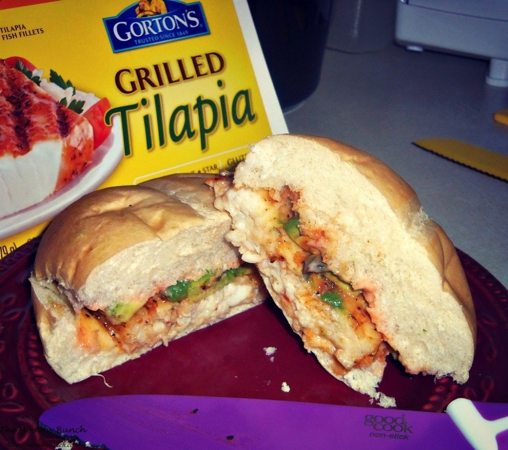 grilled tilapia and avocado sandwich
