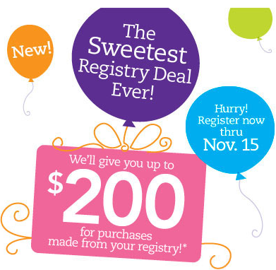 Expecting check out the sweetest registry deal ever with babies r us