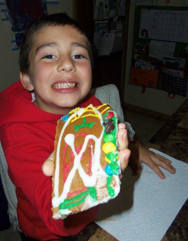 eating gingerbread