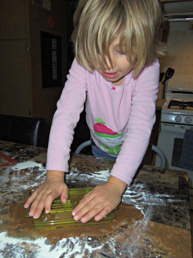gingerbread dough cut out