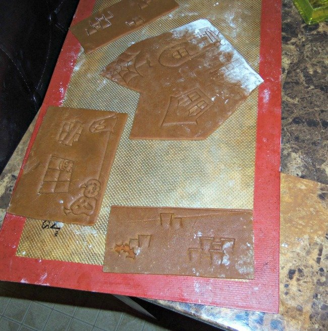 gingerbread dough stamped