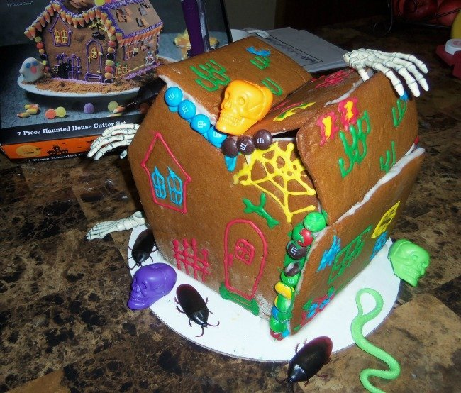 gingerbread house finished