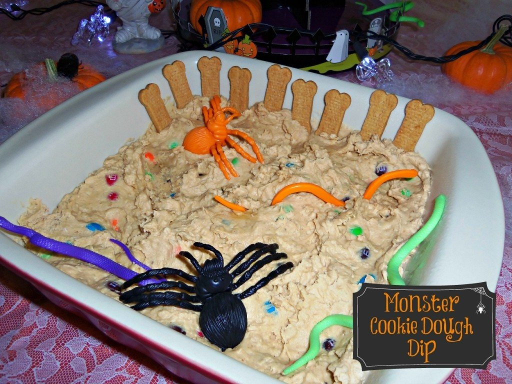 monster cookie dough dip recipes for Halloween