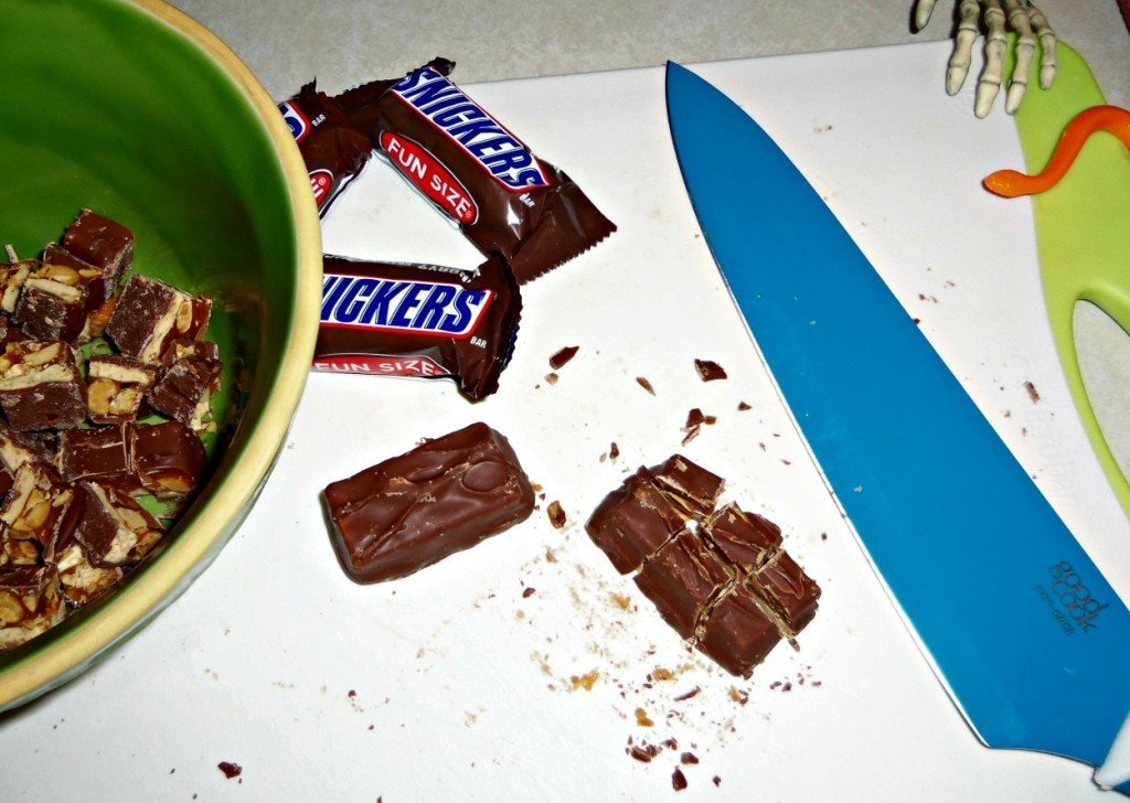 snickers salad prep2
