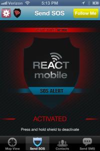 React Mobile SOS_active