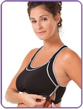 maternity sports bra black