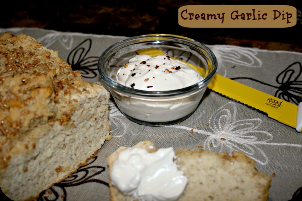creamy garlic dip