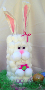 Cotton Ball Container Bunny