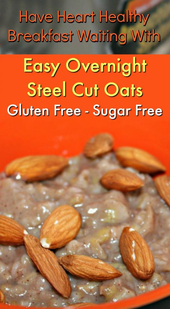 Easy Overnight Rice Cooker Steel Cut Oats with Banana