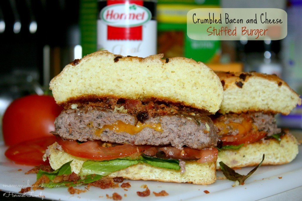 hormel bacon and cheese stuffed burger