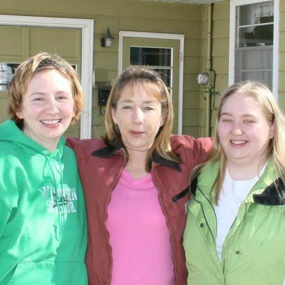 mom and me and sis