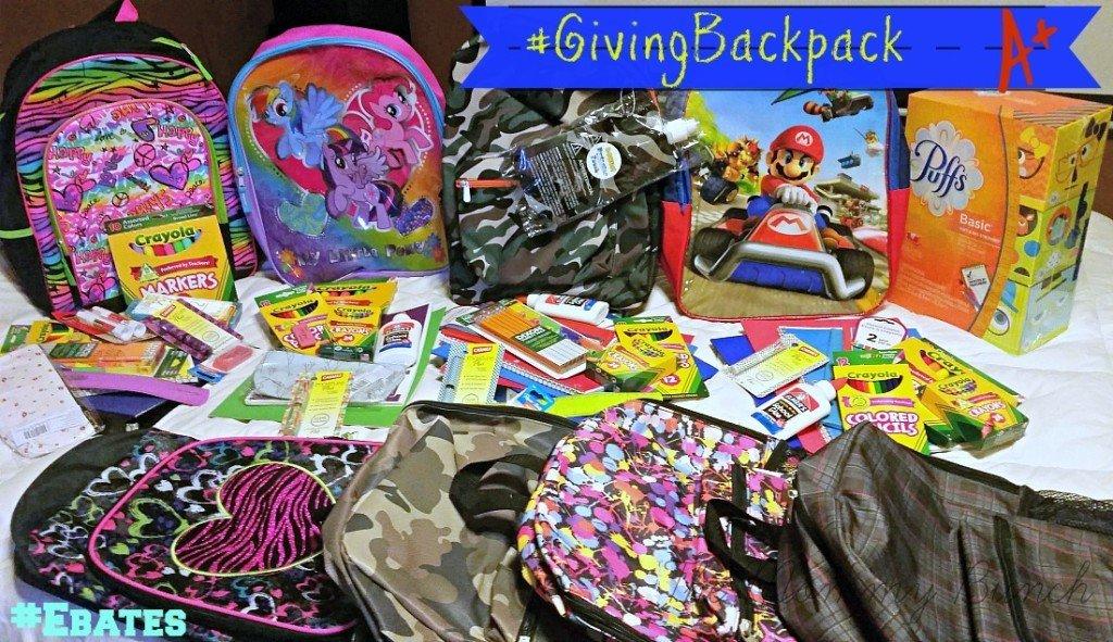 giving backpack ebates