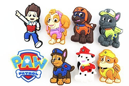 paw patrol shoe charms