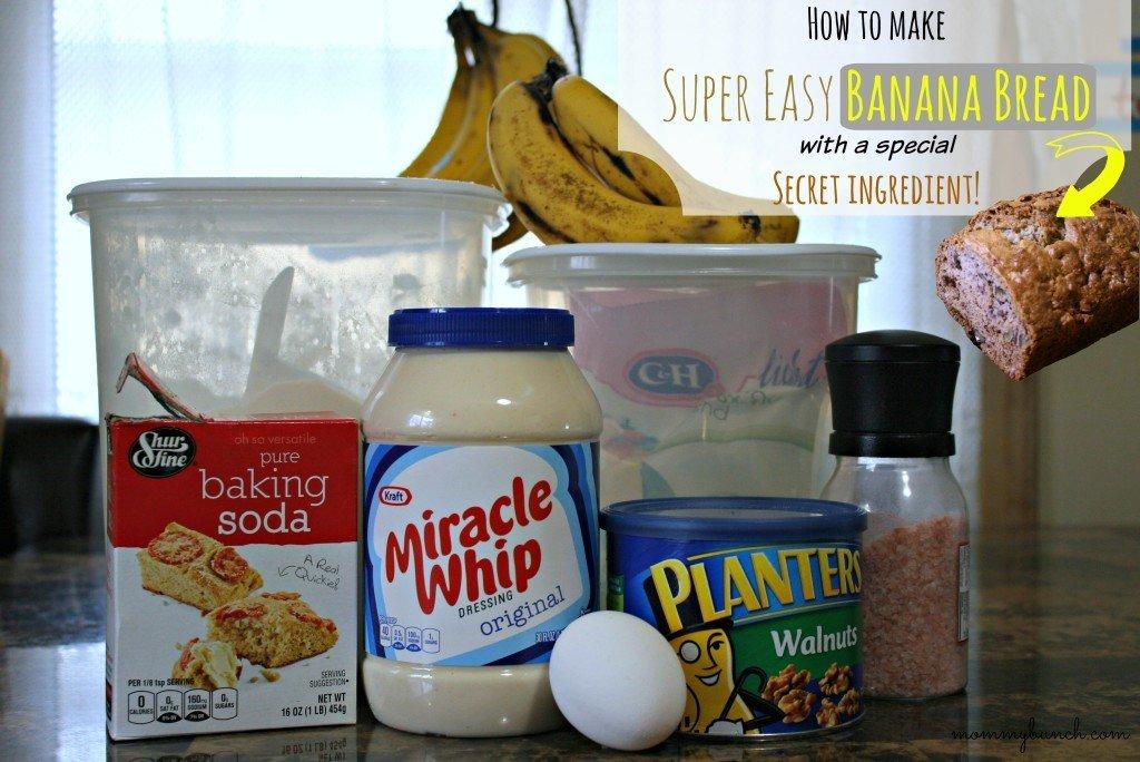 Banana Bread Recipe Ingredients