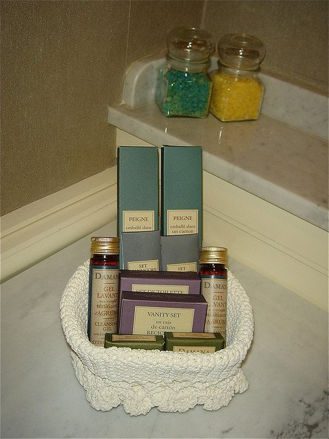 toiletries for guests