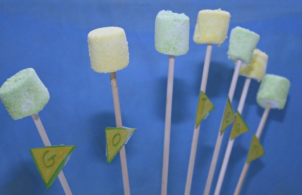 Skittles Marshmallow Fan Pops
