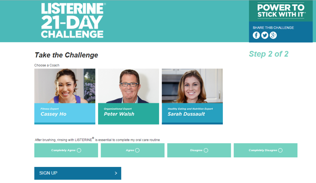 Listerine Challenge - Choose Coach
