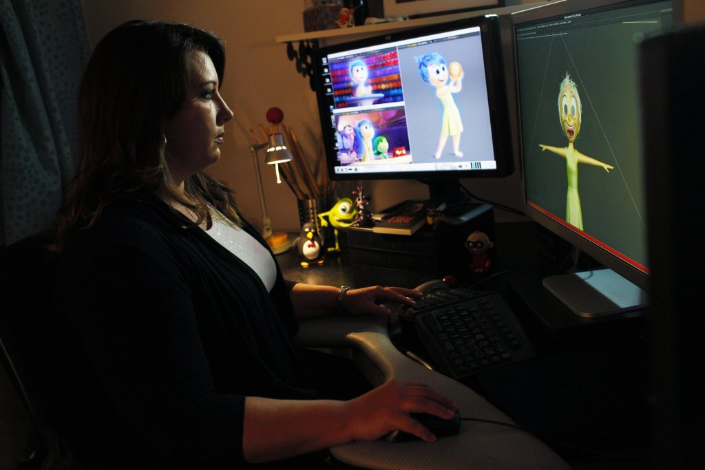 INSIDE OUT Lighting Artist Angelique Reisch. Photo by Debby Coleman. ©2015 Disney•Pixar. All Rights Reserved.
