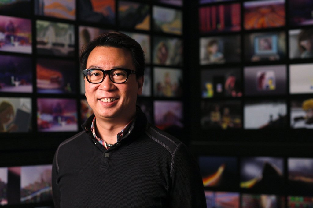 INSIDE OUT Director of Photography–Camera Patrick Lin. Photo by Debby Coleman. ©2015 Disney•Pixar. All Rights Reserved.