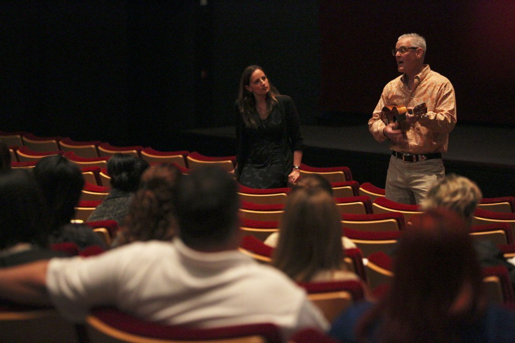 "Pixar short film ""Lava"" Producer Andrea Warren and Director Jim Murphy, on March 30, 2015 at Pixar Animation Studios in Emeryville, Calif. (Photo by Deborah Coleman / Pixar)"