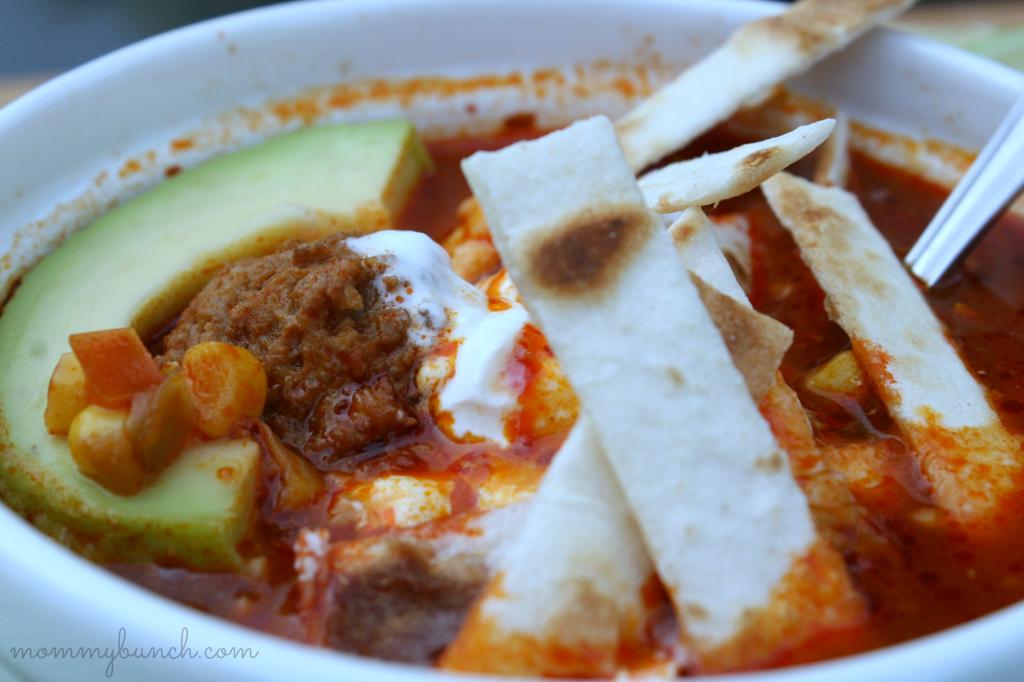 Mexican Meatball Tortilla Soup closeup