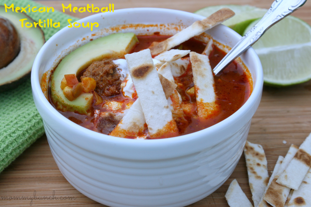 Mexican Meatball Tortilla Soup side labeled