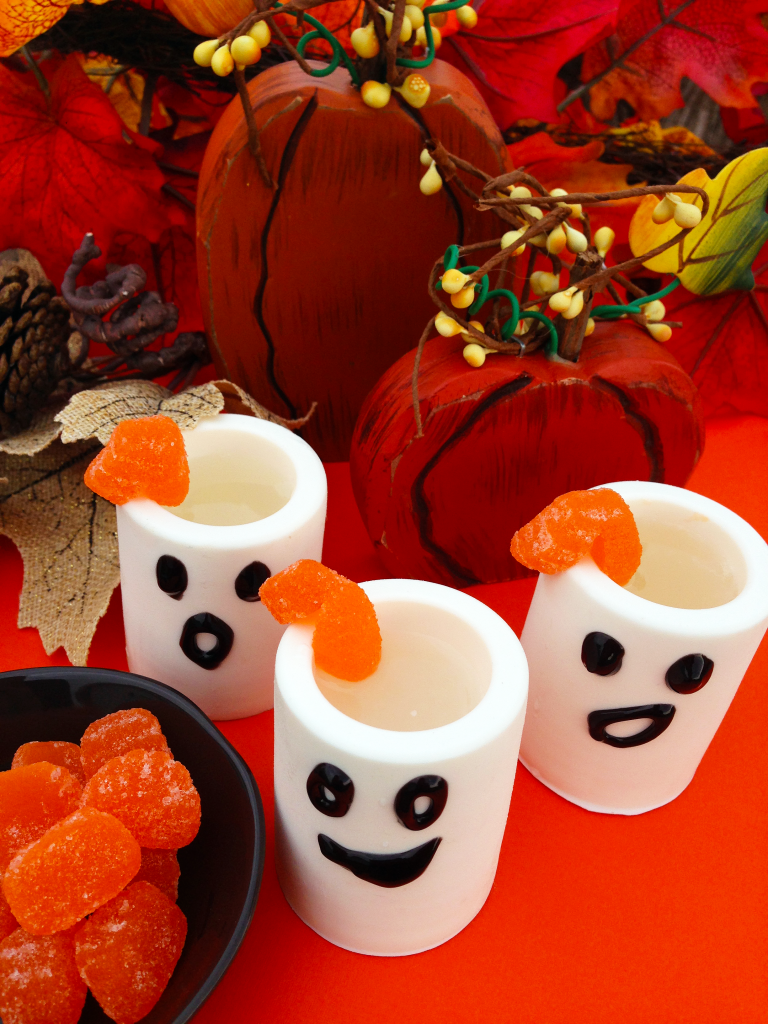 White Chocolate Edible Ghost Shot Glass with Marshmallow Infused Rum