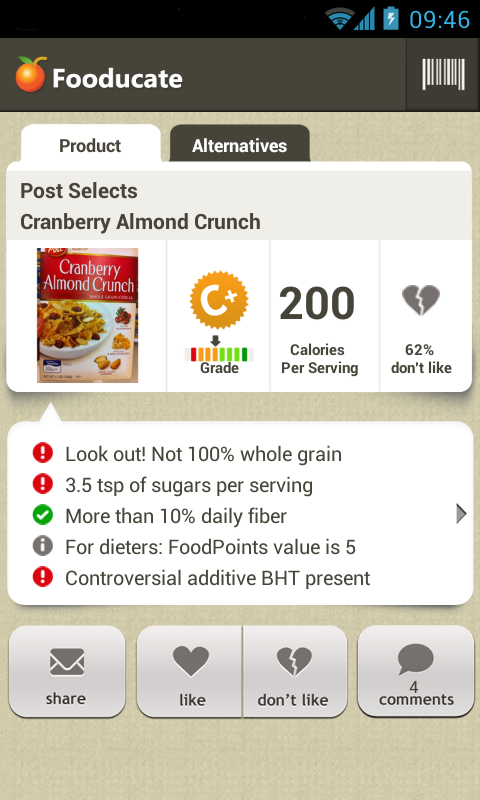 healthy weight loss and fitness app fooducate