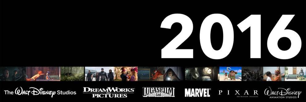 2016 Disney movie slate
