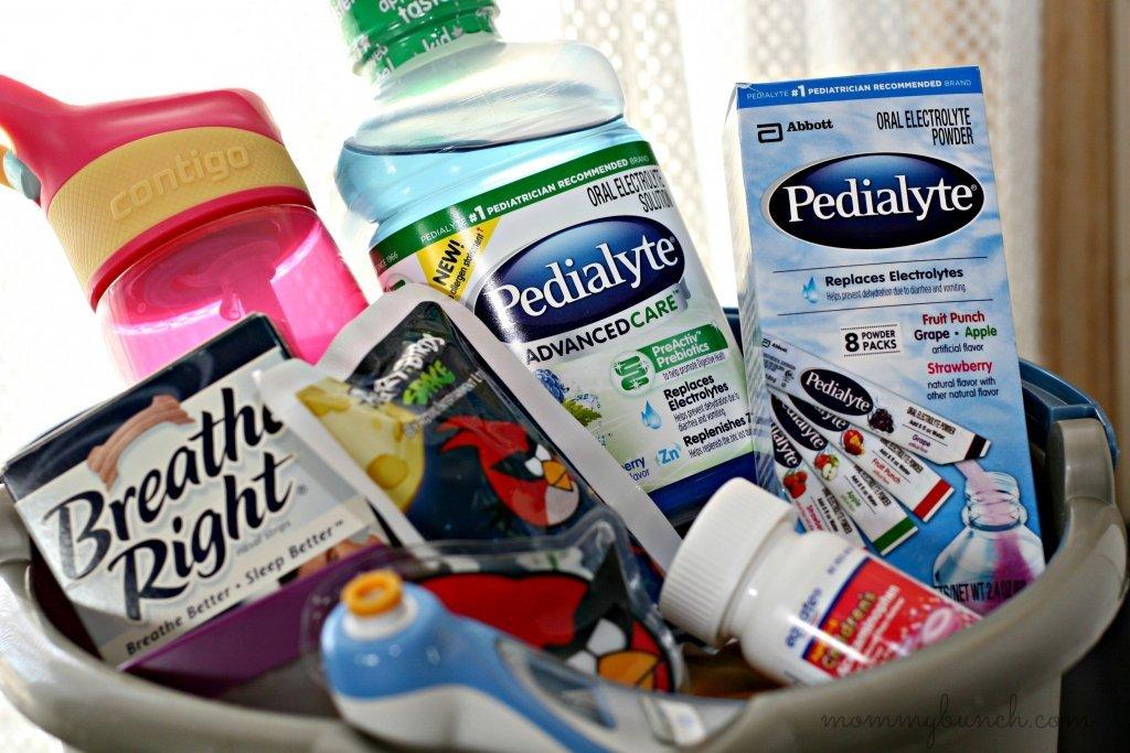 pedialyte sick bucket dehydration solution