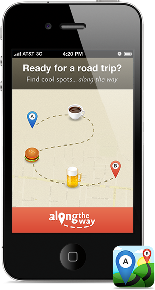 alongthewayapp-road-trips-app top apps for an unforgettable road trip