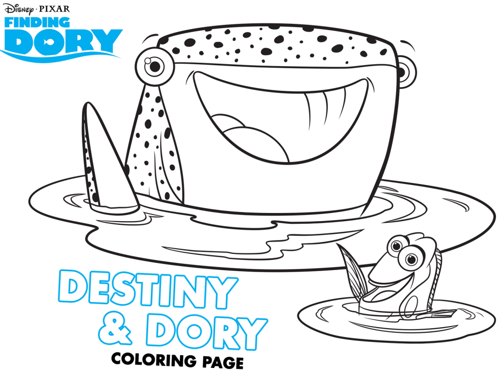 Finding dory free activity and coloring sheets for Finding dory coloring pages
