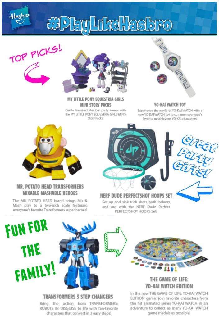 Hasbro Toy Gift Ideas latest and greatest toys