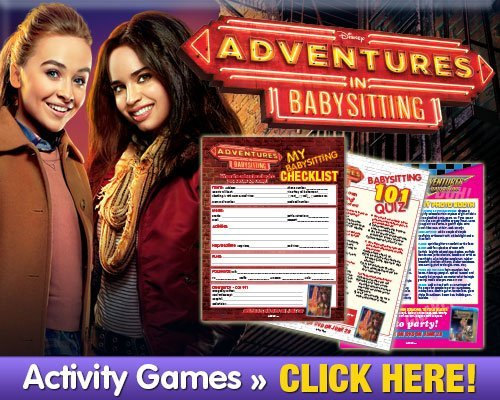 adventures in babysitting checklist and games