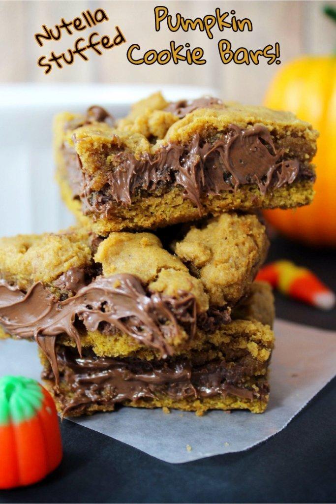 nutella-stuffed-pumpkin-cookie-bars-recipe