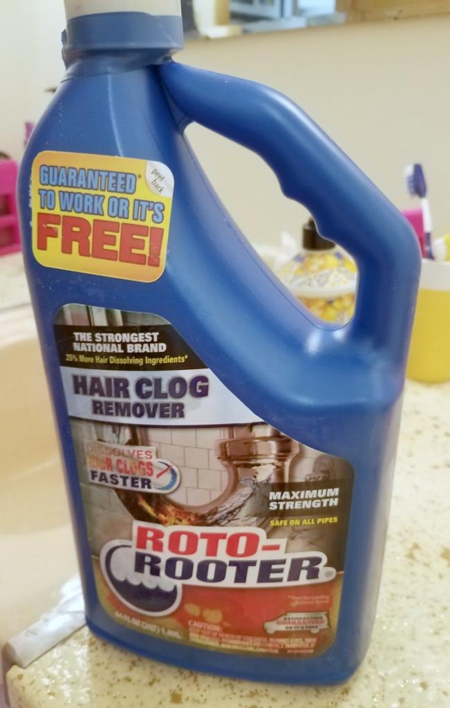 clear a clogged drain hair clog remover tool