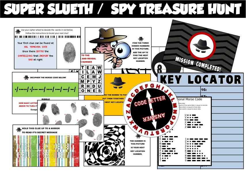 Secret Agent/Spy Party Printable Treasure Hunt
