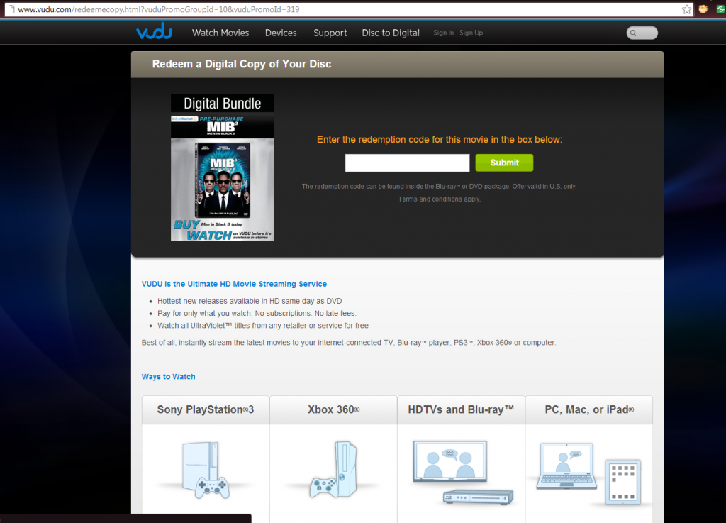 Gadgets Get 10 free movies when you sign up for Vudu. No strings attached! Just set up a new account and presto -- 10 movies that are yours to keep.