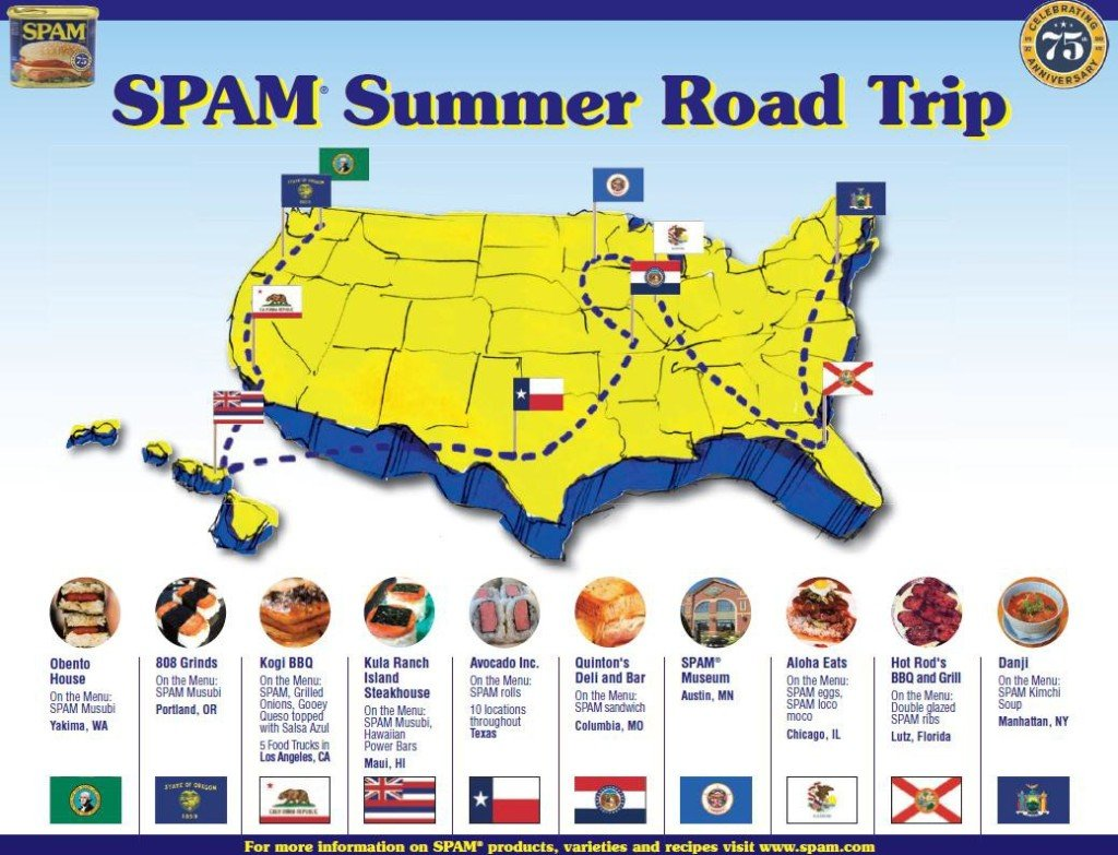 SPAM map