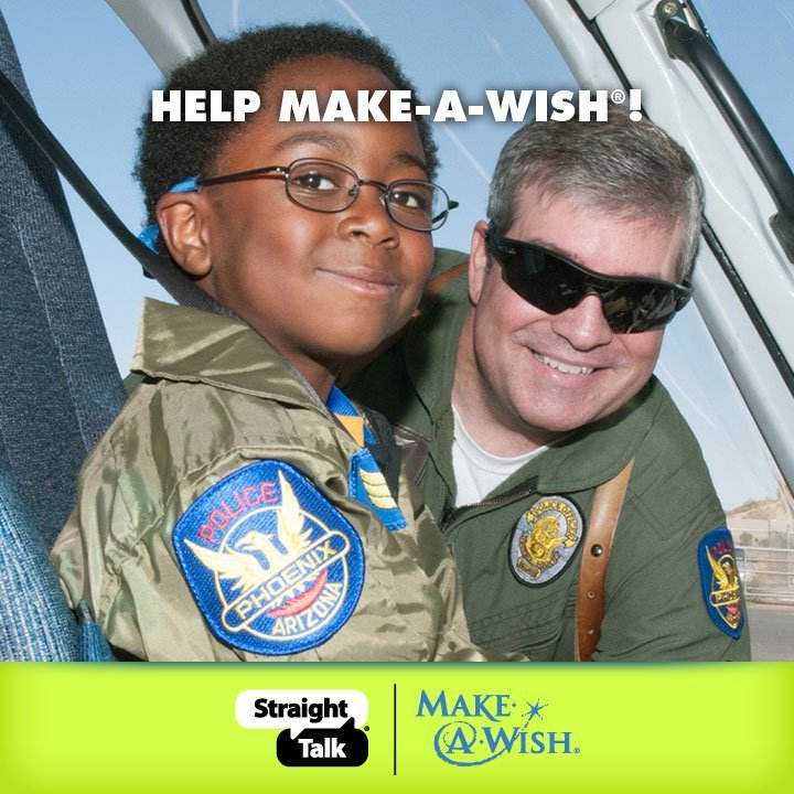 Give A Minute, Help Make-A-Wish with Straight Talk  #StraightTalkWish