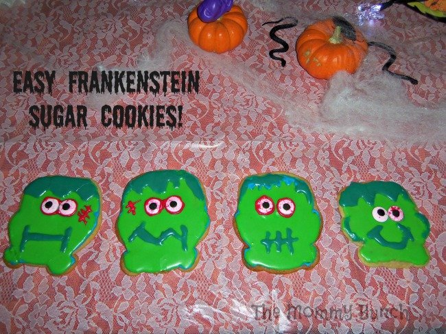 Frankenstein cookies