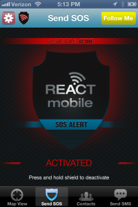 React Mobile SOS_active