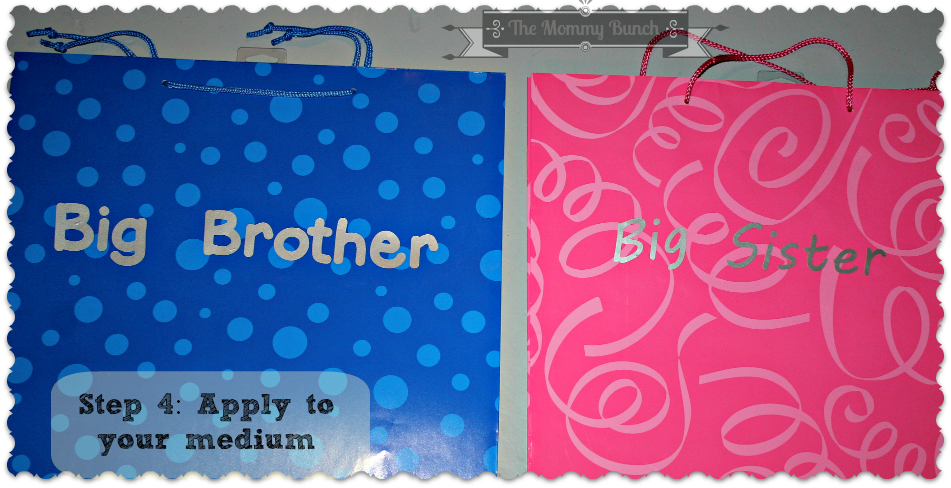 Easy DIY Big Brother and Big Sister Gift Bags