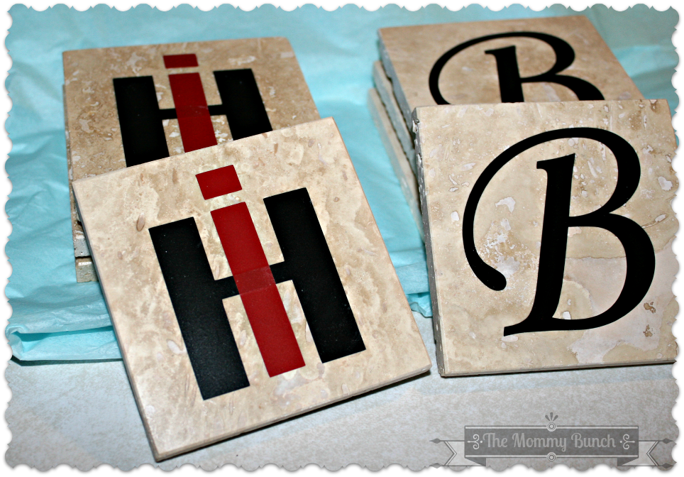 Travertine Tile Coasters Silhouette
