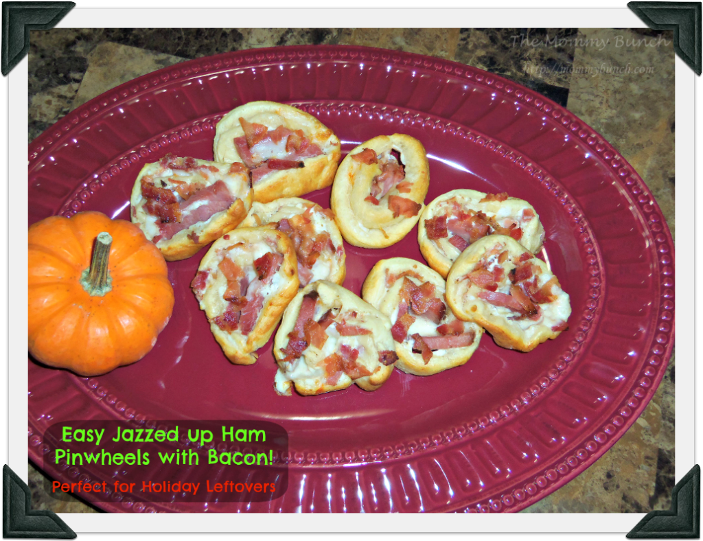 Easy jazzed up Ham Pinwheels with bacon!