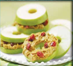 apple bagel snacks