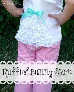 ruffled bunny shirt