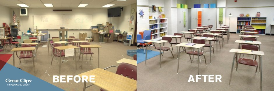 great clips classroom makeover