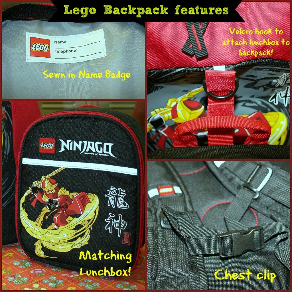 lego backpack collage